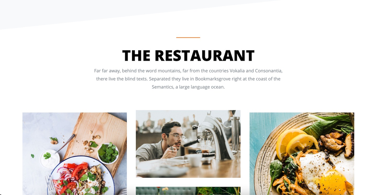 Website front end example